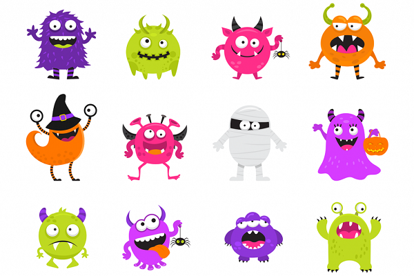 ENENOBpic Picture dictation_Monsters